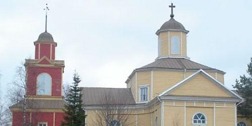 Lehtimäen kirkko on rakennettu vuonna 1800