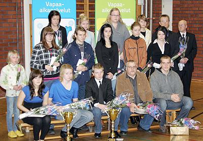 Järvi-Pohjanmaan vapaa-aikalautakunnan palkitsemia urheilijoita ja toimijoita
