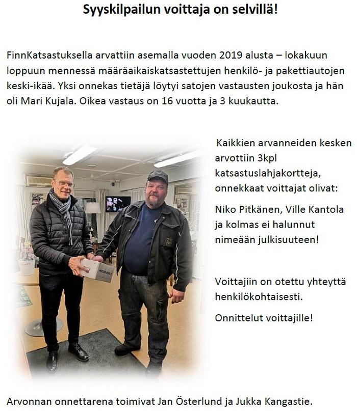 Finnkatsastus Syyskilpailu2019_arvonta