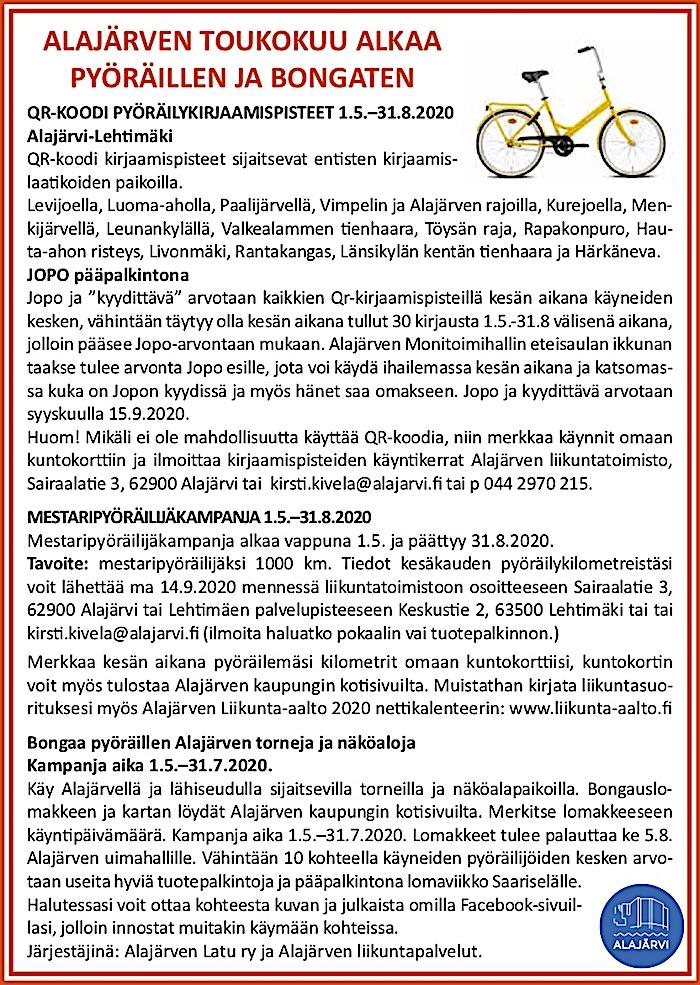 liikuntatapahtumat_ALAjärvi_kevät20